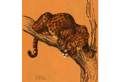 Leopard Lithograph, 1943
