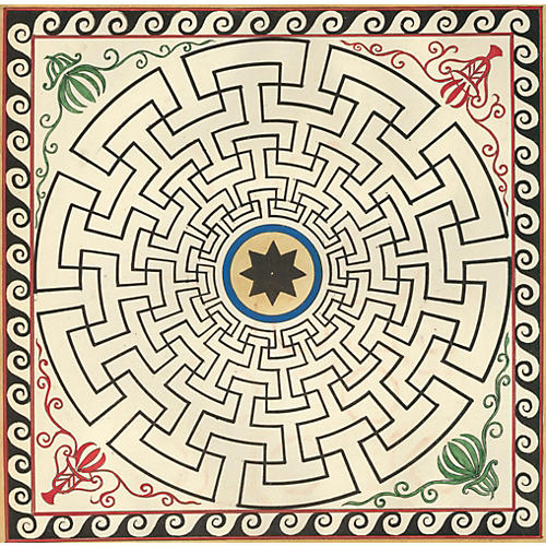 19th-C. Pompeiian Labyrinth Design