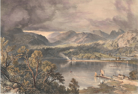 Windermere Lake Lithograph, 1853