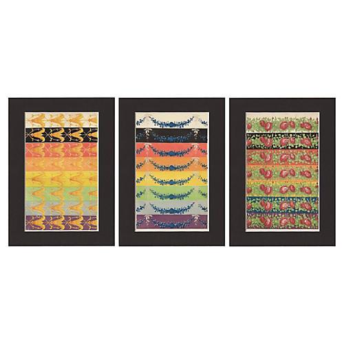 Color Studies w/ Patterns, 1859, S/3