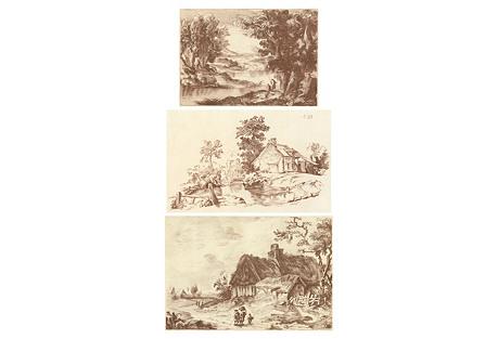 Pastoral Landscapes, 1765, S/3