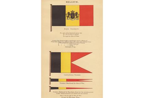 Naval Flags of Belgium, C. 1905