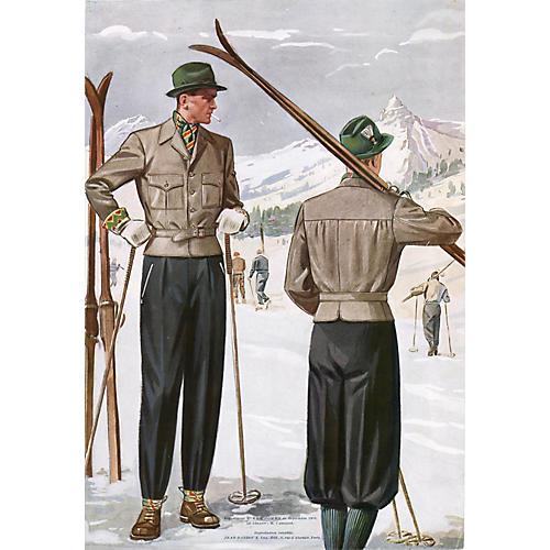 French Men's Ski Wear, 1938
