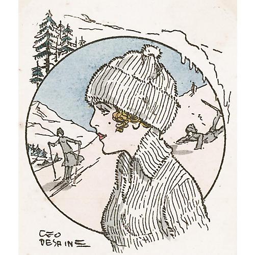 French Ski Bunny, C. 1930
