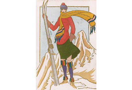French Skier by Leon Bonnotte, C. 1930