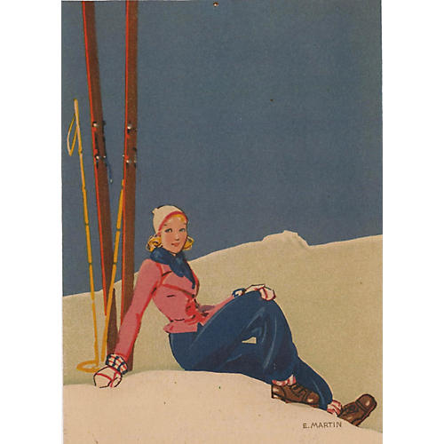 French Ski Lounging, C. 1930