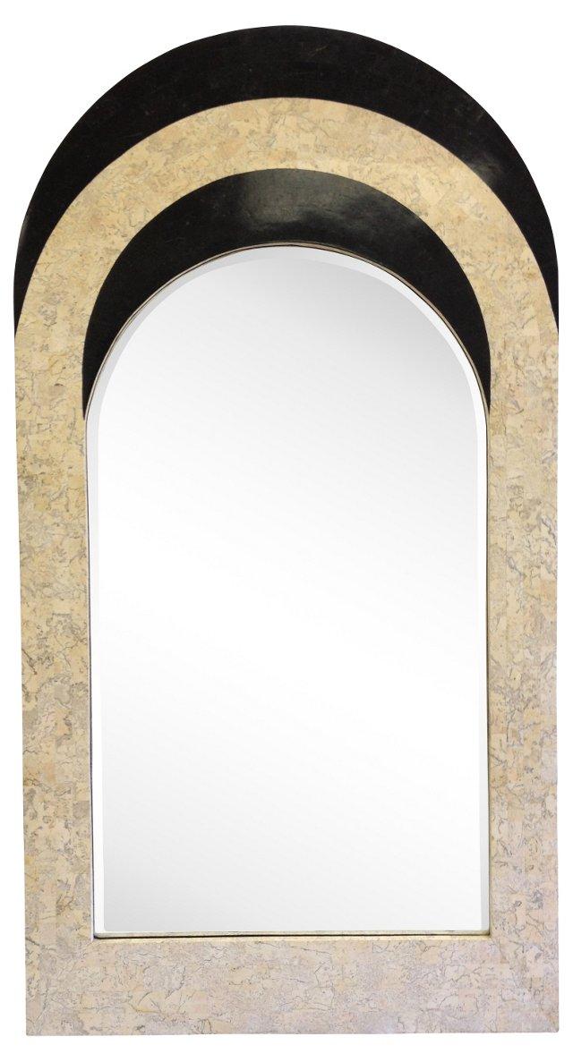 Maitland-Smith Tessellated Stone Mirror