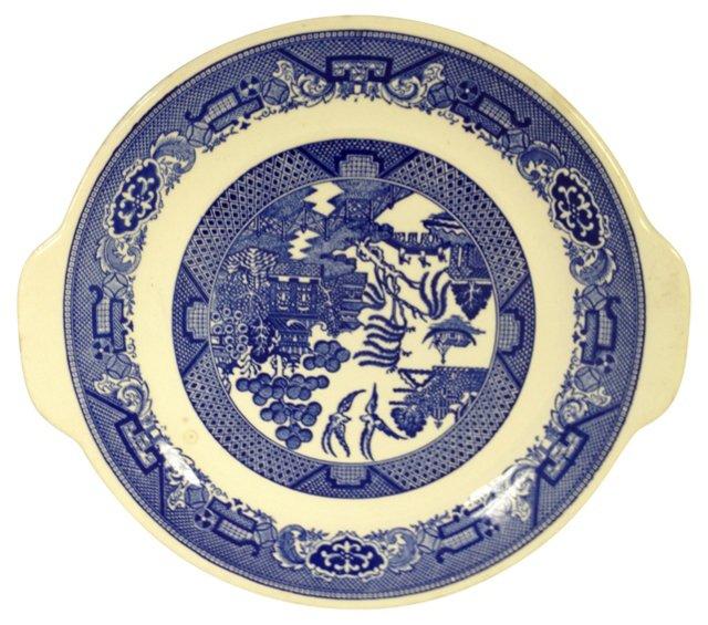 Royal Blue Willow Platter