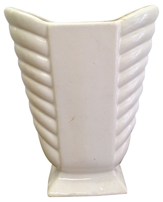 Off-White Ceramic Vase