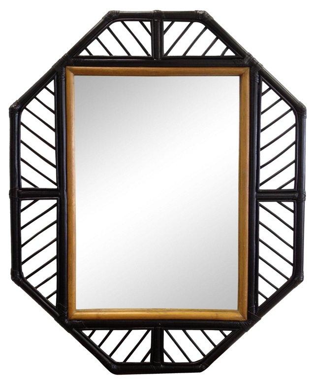 Rattan Octagonal Mirror