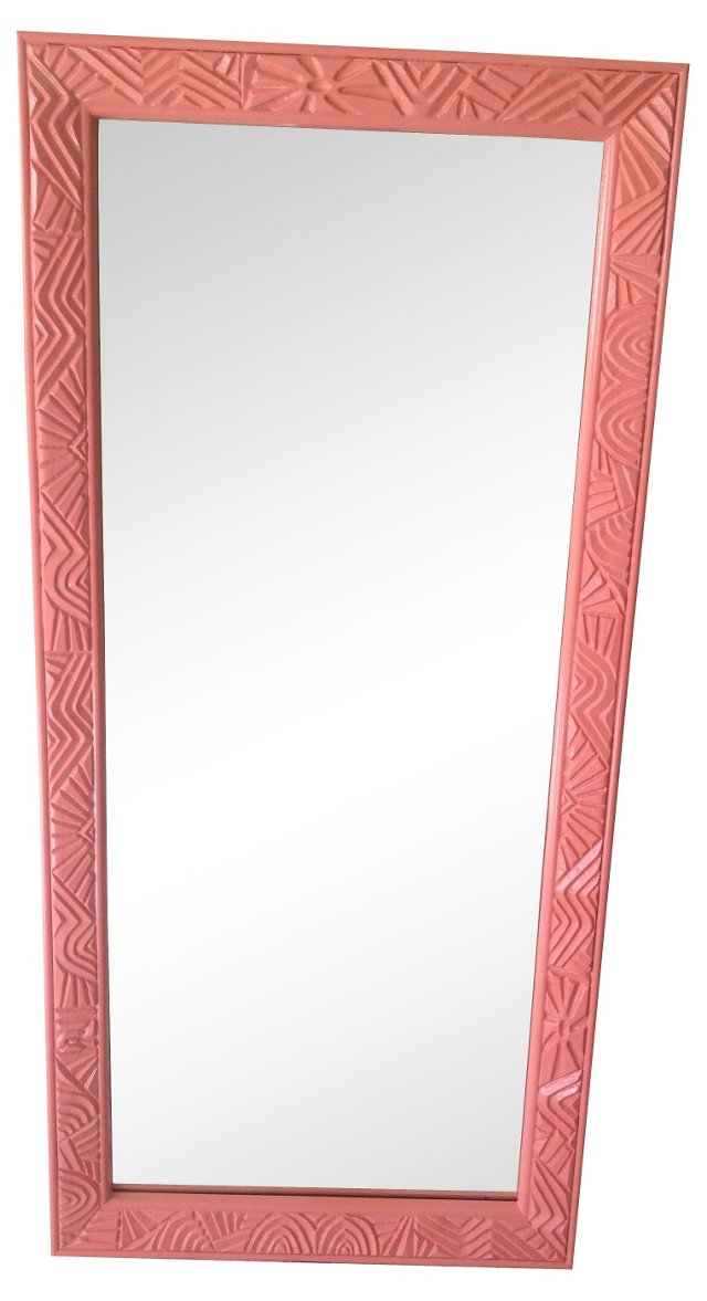 Pink Lacquered  Pier Mirror
