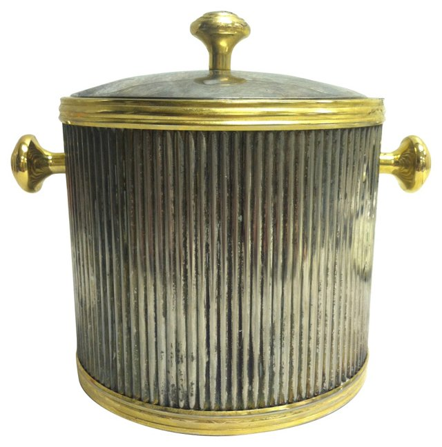 Silver & Brass Ice Bucket