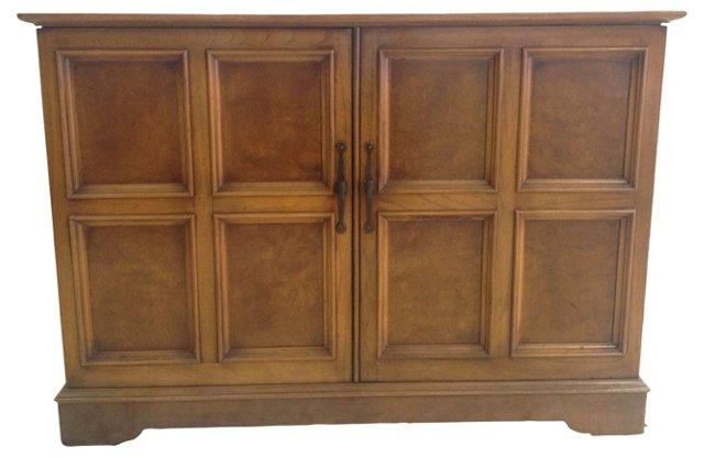 Burlwood Paneled Cabinet