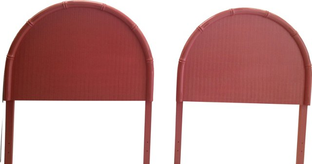 Faux-Bamboo Headboards, Twin, Pair