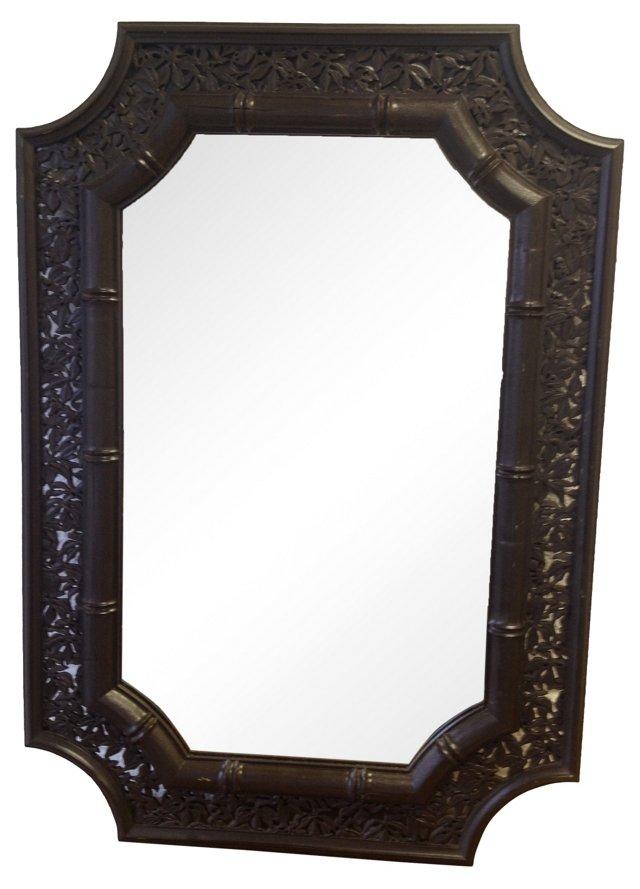 Chinioiserie Faux-Bamboo Mirror