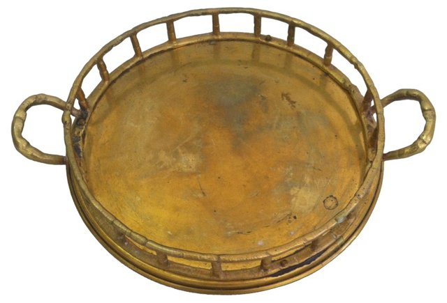 Brass Bamboo-Style      Tray