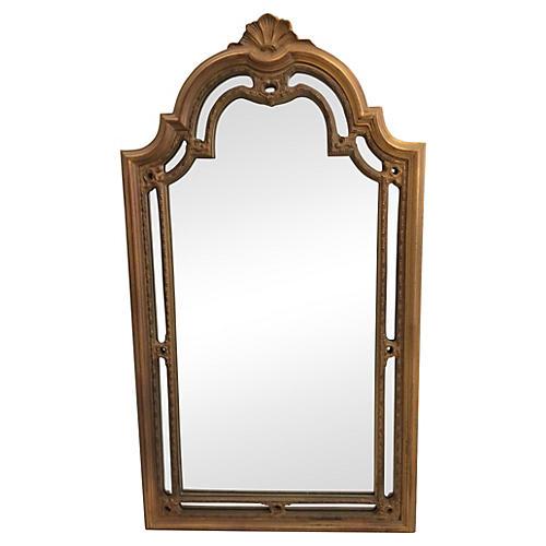 Gold Rococo Shell Mirror