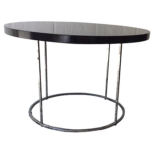 Baughman-Style Chrome & Lacquer Table