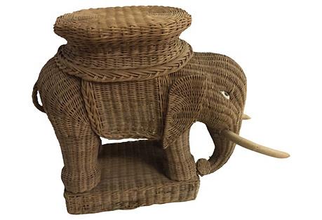 Rattan Elephant Plant Stand