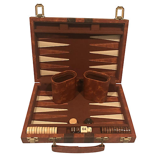 Leatherette Travel Backgammon Board