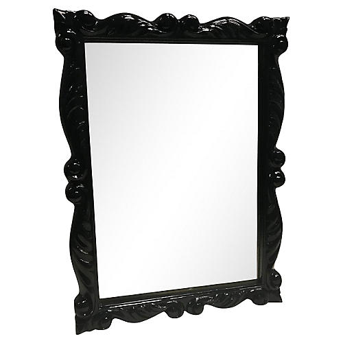 Black Lacquered Theatrical Mirror