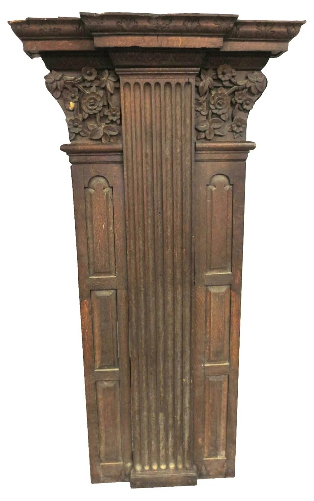 Late-17th-C.  English Oak Wall Panel