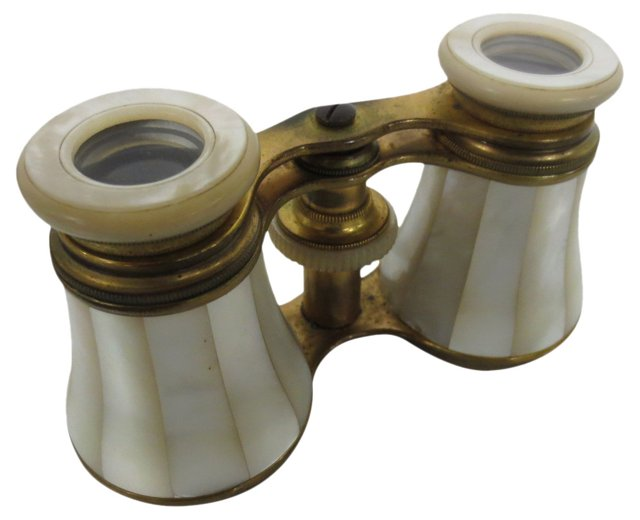 Mother-of-Pearl Opera Glasses w/ Case
