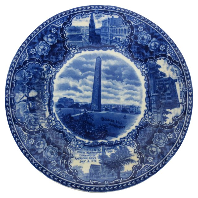 English Blue and White Plate