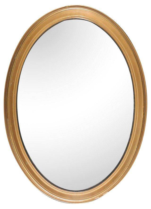 Elegant Oval Gilt Mirror
