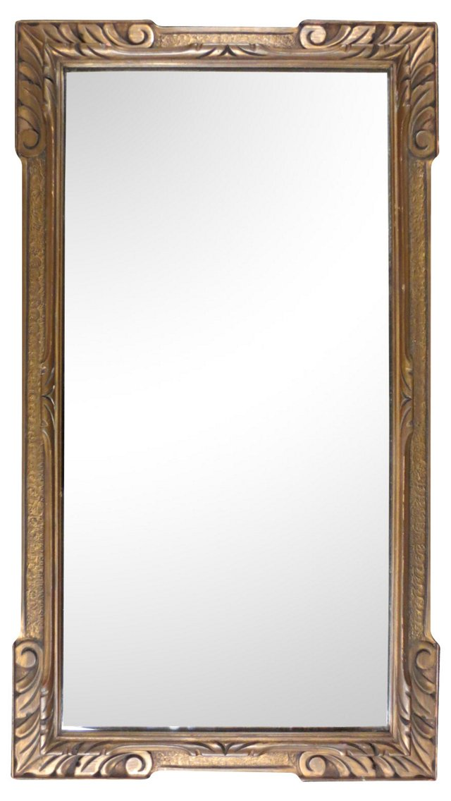 Carved Gilt Mirror w/ Raised Border
