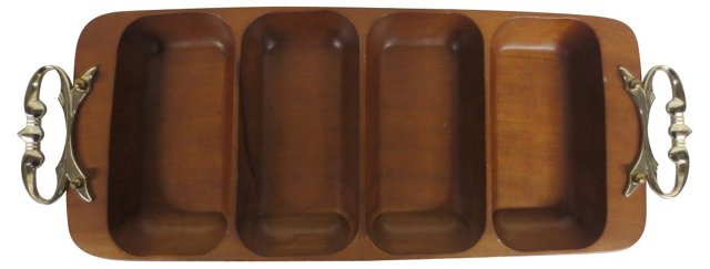 Mid-Century Modern Rosewood Tray