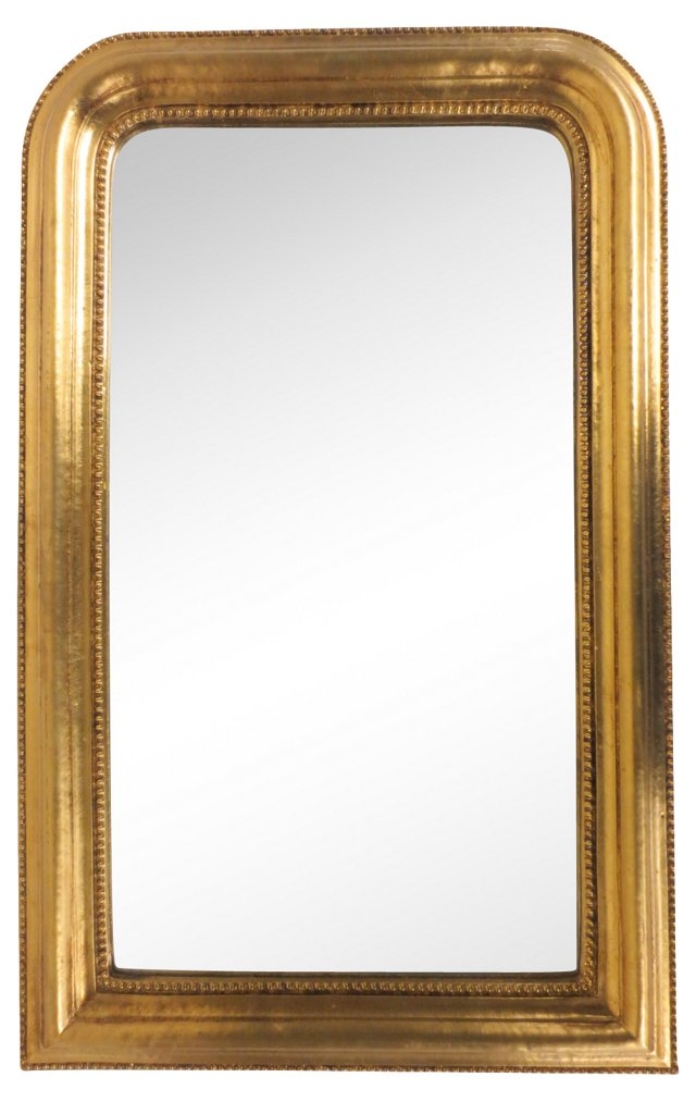 Gilt-Framed Beaded Edge Mirror