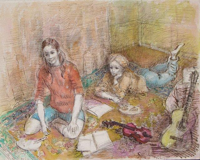 Jeudi  à la Maison by Lucien Moretti