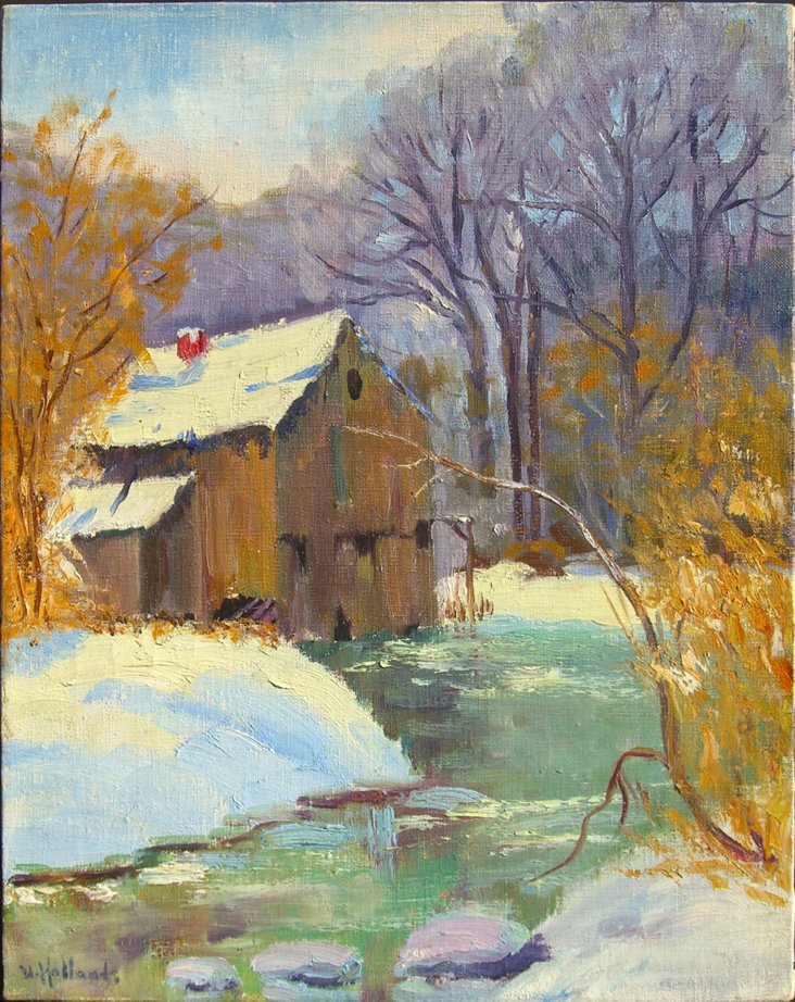 Old Mill House in Winter, 1955