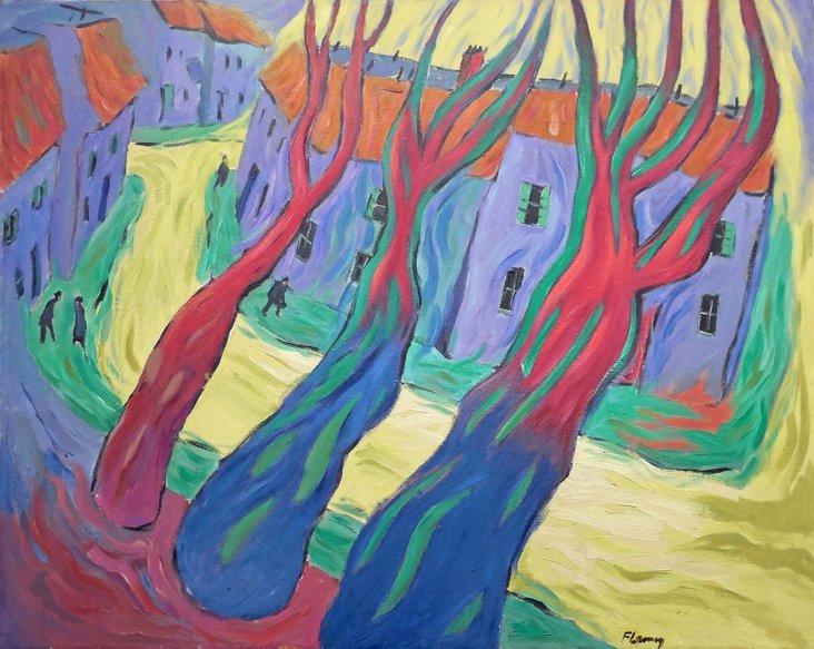Post-Impressionist Cityscape