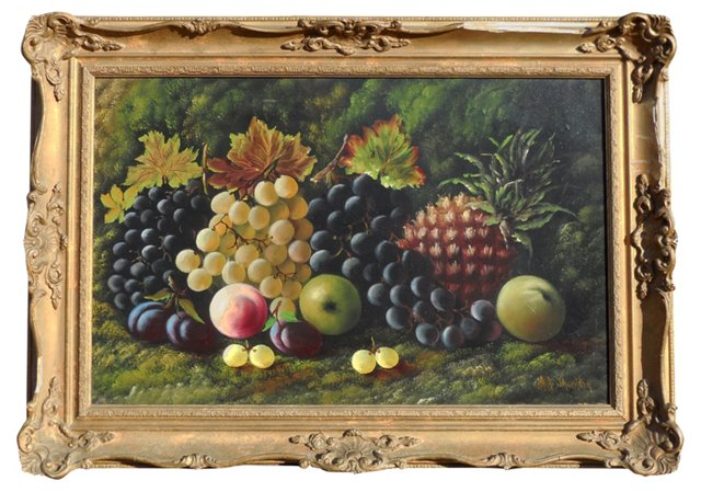 19th-C Still Life of Fruit