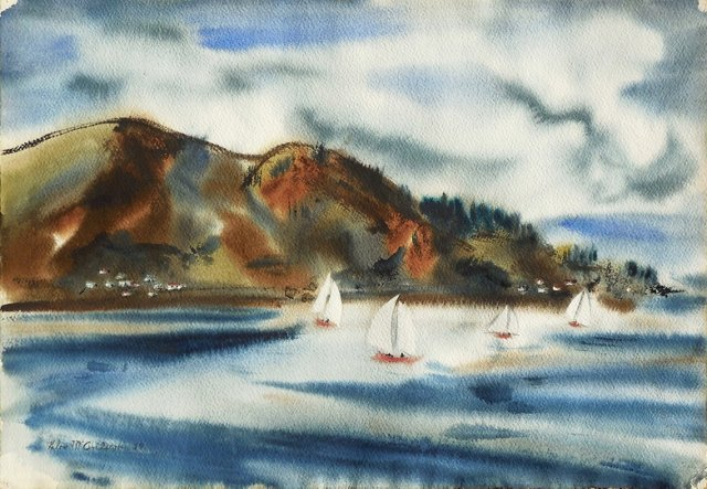 Sausalito & The Bay, 1959