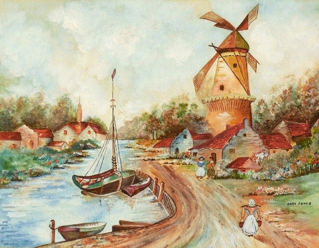 1960s Dutch River Landscape