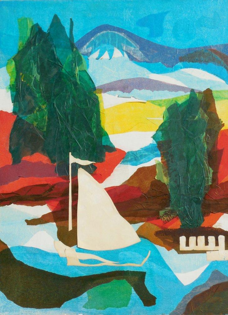 Landscape w/ Sailing Boat, 1975