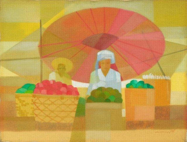 Burmese Fruit Market, Rangoon