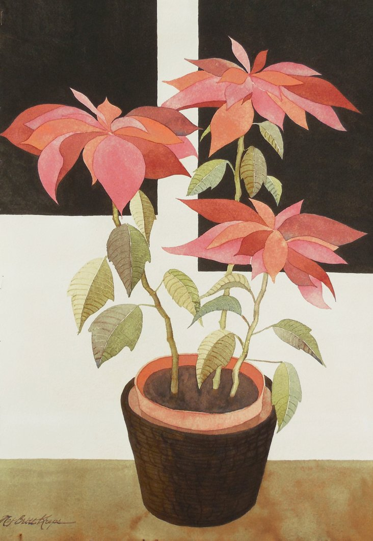 Poinsettia in a Clay Pot, 1970