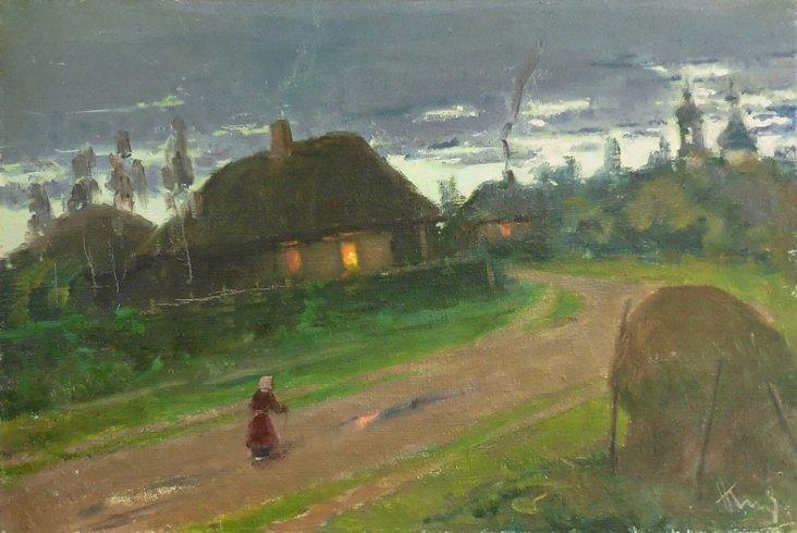 Village Sunset, 1955