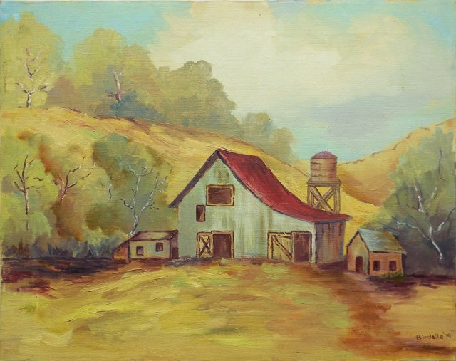 Red Roofed Barn, 1979