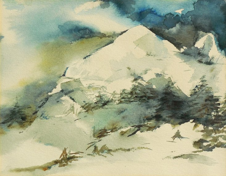Mountain Landscape by Rose Marie Ackerl