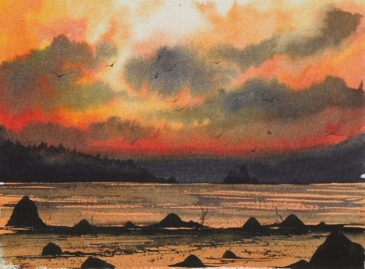 Lake Sunset, 1976