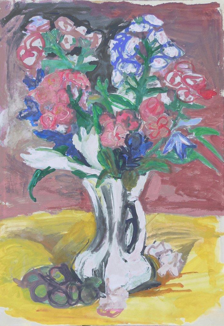 1960s Still Life of Flowers