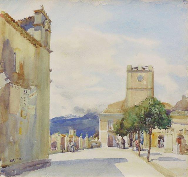 The Piazza, Taormina, Sicily, 1922