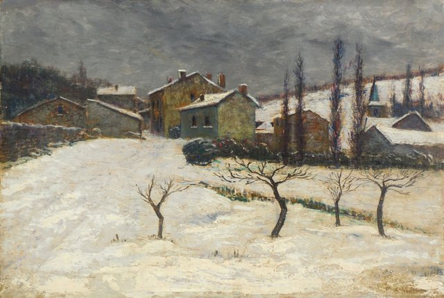 French Winter Landscape, 1925