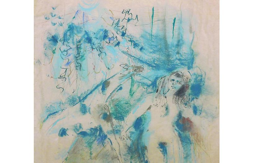 Surreal Figural in Blue, 1962, SFMMA