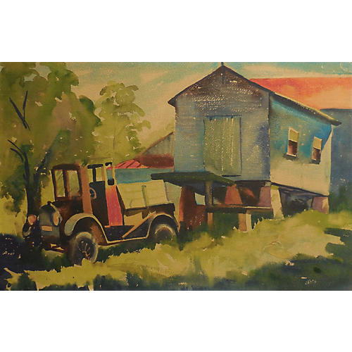 Rustic Farm Scene
